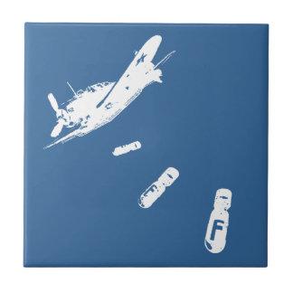 F-Bomb Diver (White) Tile