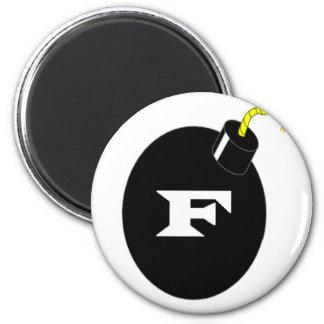 F-BOMB IMÁN REDONDO 5 CM