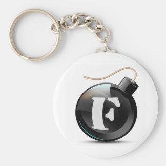 F-bomb Basic Round Button Keychain