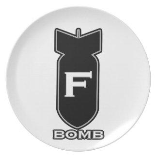 F Bomb Plates