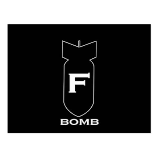 F Bomb Post Cards