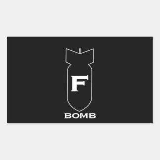 F Bomb Rectangular Sticker