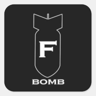 F Bomb Square Sticker