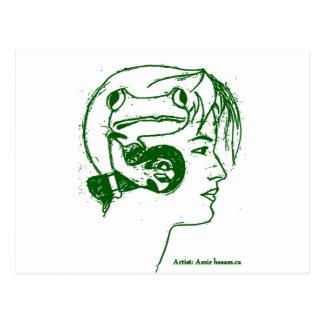 F-C-F-Frog headseter-neon.jpg Postcard