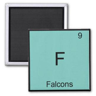 F - Camiseta divertida del símbolo de la química Imán Cuadrado