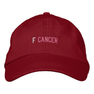 F CANCER EMBROIDERED BASEBALL CAP