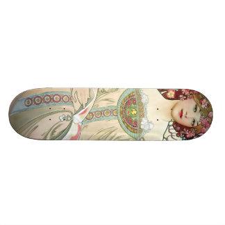 F. Champenois Imprimeur-Éditeur by Alfons Mucha Skateboard
