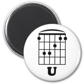 F Chord U 2 Inch Round Magnet