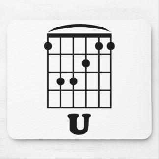 F Chord U Mouse Pad