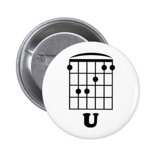 F Chord U Pinback Button
