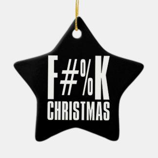 F Christmas and F You Too Ornament