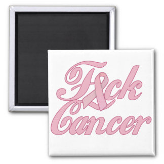 F*ck Cancer 2 Inch Square Magnet