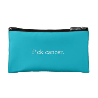 f*ck cancer. cosmetic bag