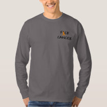F*ck Cancer Orange Awareness Ribbon T-Shirt