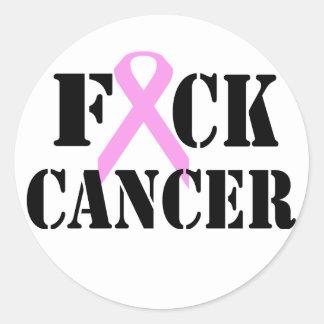 F*CK Cancer Round Sticker
