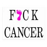 f*ck cancer soft text post card