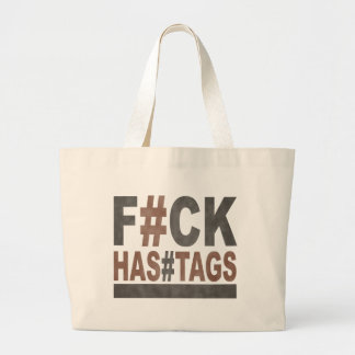 F#ck Hashtags Bolsa De Tela Grande