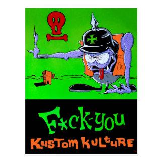 F*ck You Kustom Kulture Postcard