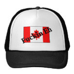 F*ckin Eh (bandera canadiense) Gorro De Camionero