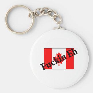 F*ckin Eh (Canadian Flag) Keychain