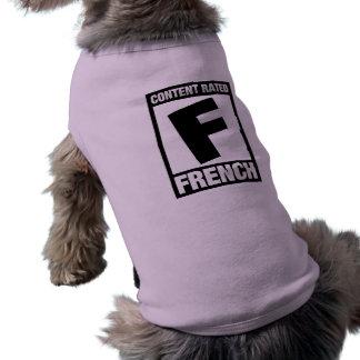 F clasificada: Francés Playera Sin Mangas Para Perro