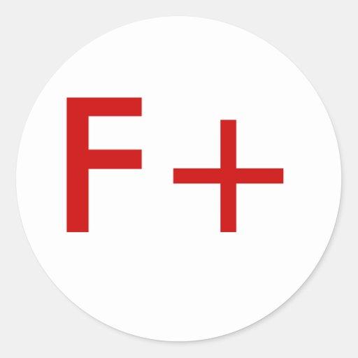 F+ CLASSIC ROUND STICKER