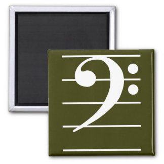 F clef 2 2 inch square magnet