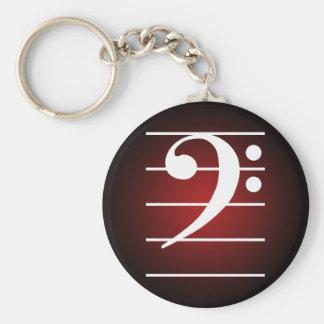 F clef 2 basic round button keychain