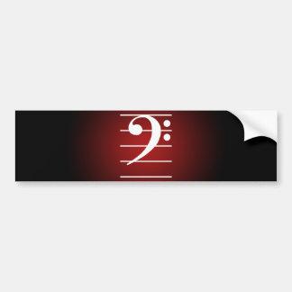 F clef 2 bumper sticker