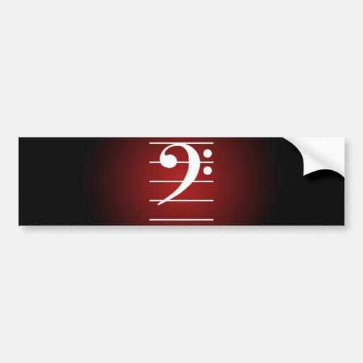 F clef 2 car bumper sticker