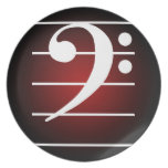 F clef 2 dinner plate
