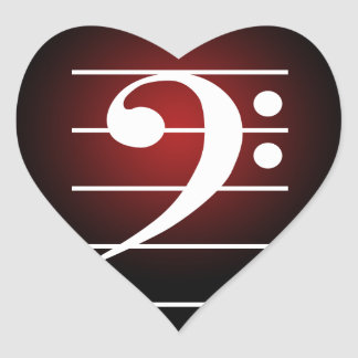 F clef 2 heart sticker