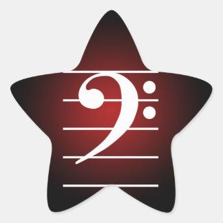 F clef 2 star sticker