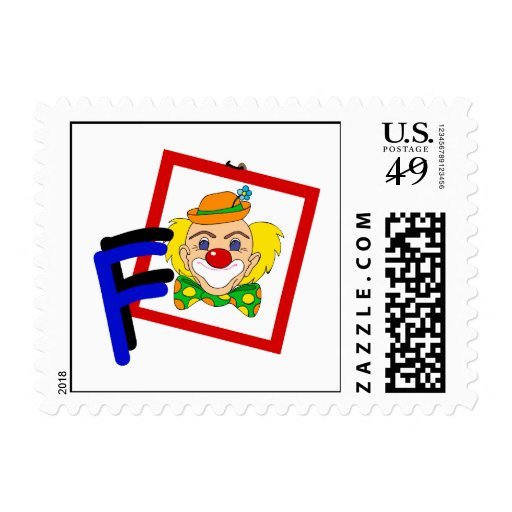 F Clown Postage
