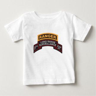 F Co 51st Infantry LRS Scroll, Ranger Tab Baby T-Shirt