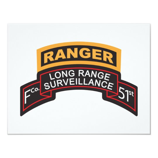 F Co 51st Infantry LRS Scroll, Ranger Tab Card