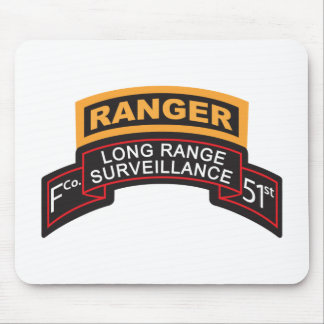 F Co 51st Infantry LRS Scroll, Ranger Tab Mouse Pad