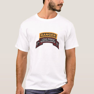 F Co 51st Infantry LRS Scroll, Ranger Tab T-Shirt