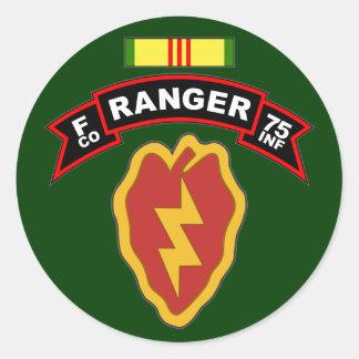 F Co, 75th Infantry Regiment - Rangers, Vietnam Classic Round Sticker