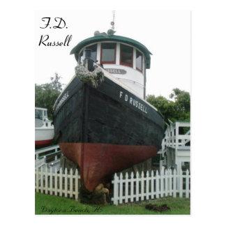 F.D. Barco del tirón de Russell # 1 Tarjetas Postales