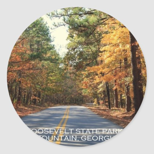 F.D. ROOSEVELT STATE PARK - PINE MOUNTAIN, GEORGIA CLASSIC ROUND STICKER