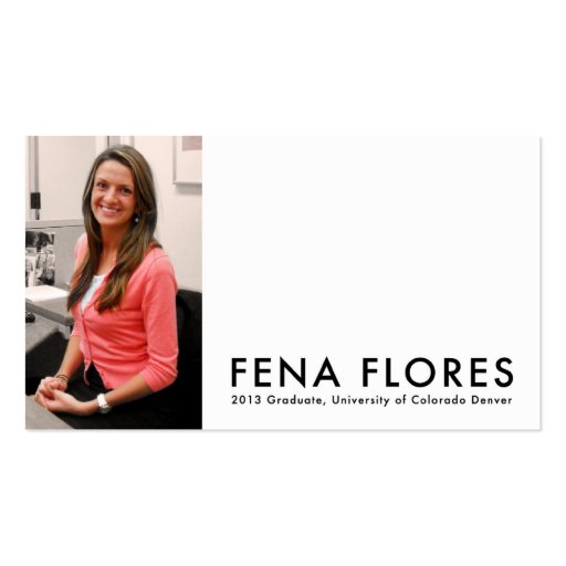 f e n a  f l o r e s Double-Sided standard business cards (Pack of 100)