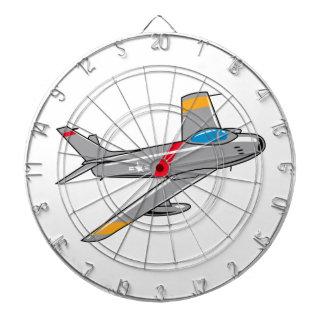 F Eighty Six Sabre Jet Dartboard With Darts