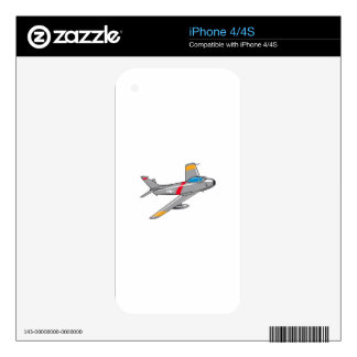 F Eighty Six Sabre Jet Decal For iPhone 4
