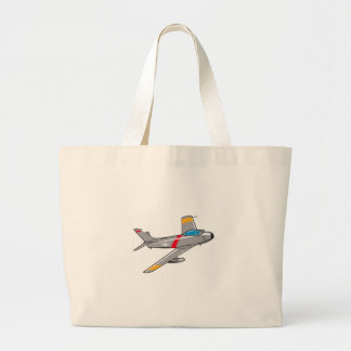 F Eighty Six Sabre Jet Large Tote Bag