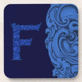 F - El alfabeto de Falck (azul) Posavasos De Bebida