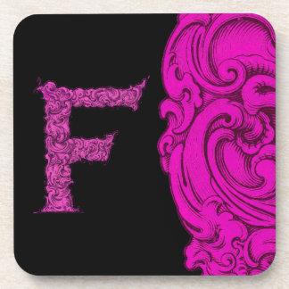 F- El alfabeto de Falck (rosa) Posavasos