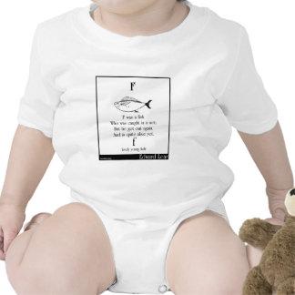F era un pescado trajes de bebé