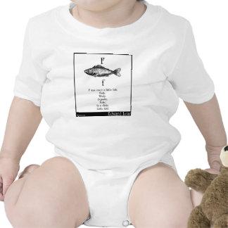 F era una vez un pequeño pescado trajes de bebé
