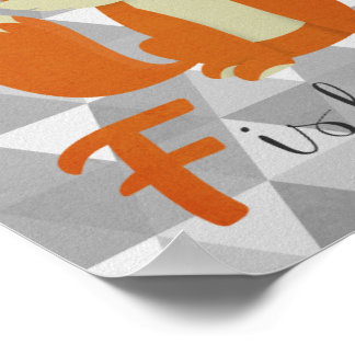 F está para el arte de la pared del cuarto de póster